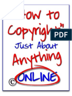 How to Copyright Just About Anything ONLINE Scribd Abridged)