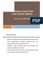 Materials Selection for Elastic Hinges