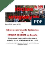Noticias Uruguayas Jueves 29 de Marzo de 2012