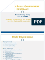 Malawi Key Findings-Views on Local Govt