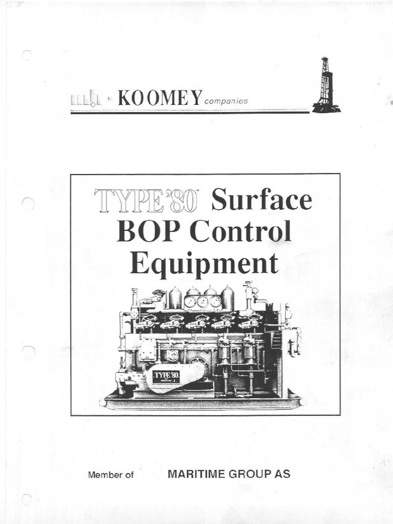 Manual, Type 80 Koomey Unit