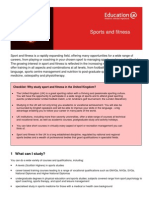 Learning Info Sheets Sports and Fitness