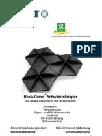 Hexa-Cover(R) Schwimmkörper Broschüre Wasser Industrie