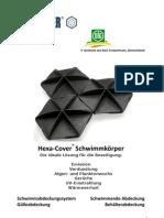 Hexa-Cover(R) Schwimmkörper Broschüre Biogas Gülle Landwirt