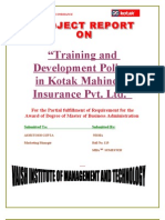 Training & Development Policy on Kotek