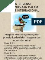 Intervensi Kemanusiaan Dalam Hukum Internasional