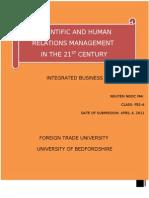 Scientific Management and Human Relation-Nguyen Ngoc Mai