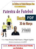 Cartaz Palestra Futebol