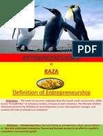 Entrepreneurship by Raza