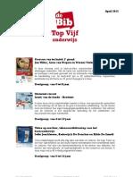 Top Vijf Onderwijs April 2012
