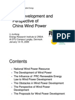 Infra 2009 - Apresentação Michael Meagher - The Development and Perspective of China Wind Power