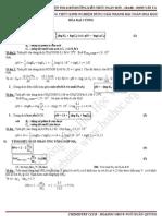 2011 _ Công thức dùng để áp dụng giải nhanh bài tập trắc nghiệm