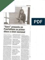 Aura presenta en Puertollano su primer disco. 21 de febrero de 2009. Diario Lanza
