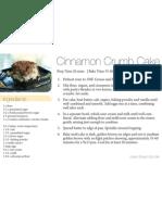 Cinnamon Crumb Cake 4x6
