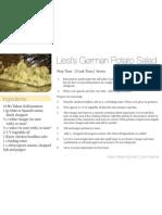 Liesls German Potato Salad 4x6