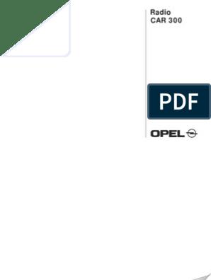 blaupunkt opel car 300 manual | frequency modulation | radio broadcasting  scribd