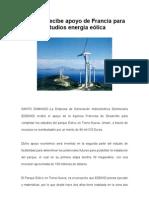 EGEHID recibe apoyo de Francia para estudios energía eólica