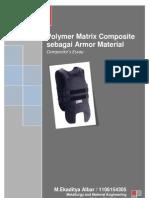 Polymer Matrix Composite Sebagai Armor Material