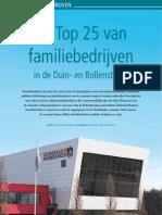 De Top 25 van familiebedrijven in de Duin- en Bollenstreek (in