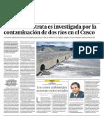 Peligra Ecología, Medio Ambiente y Ríos en Cusco