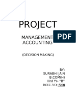 Mgt Accnting Project-Decision Making