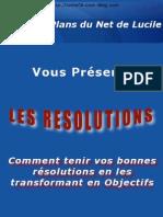 Les Resolutions