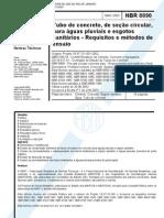 NBR 08890 - 2003 - Tubo de concreto armado de secao circular para ÁGUAS PLUVIAIS E esgoto sanitario - ÁGUA