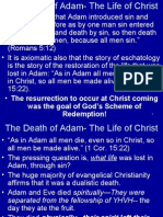 The Death of Adam - The Life of Christ