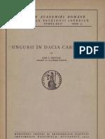 Ion I. Nistor - Ungurii în Dacia Carpatină - 1942