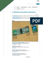 RF Module _ Transmitter & Receiver _ RF Transmitter and RF Receiver