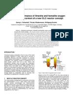 Schwebel Wiedenmann Krumm 2010 - Reduction Performance of Ilmenite and Hematite Oxygen Carriers in the Context of a New CLC Reactor Concept