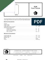 - Valvole - Data Sheet El84