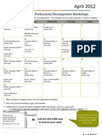 April 2012 Workshop Calendar