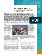 Analysis of Cancer Risks in Populations near Nuclear Facilities