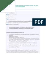 Inscripción al Registro Federal de Contribuyentes RFC para personas físicas