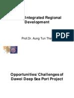 Dawei Deep Sea Port by Prof. Dr.aung Tun Thet