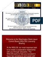 WSLCB Briefing