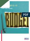 BDO Budget Snapshot - 2012-13