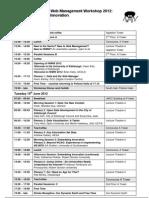 IWMW 2012 Programme