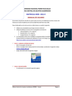 Manual Matricula Web 2011-II