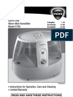 Vicks V790 Germ-Free Humidifier User Manual
