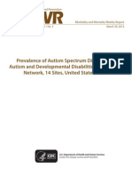 CDC Autism Study, March 2012