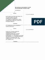 St. Clair Intellectual Property Consultants, Inc. v. Matsushita Electrical Industrial Co., Ltd., et al., C.A. No. C.A. Nos. 04-1436-LPS, 06-404-LPS, 08-371-LPS (D. Del. Mar. 26, 2012).