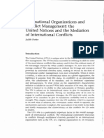 International Organizations and Conflict Management