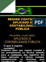 REGIME CONTÁBIL APLICADO À CONTABILIDADE PÚBLICA