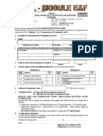 Nbaa Exam Entry Form Mod e&f