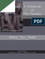 A Vernacular of File Formats