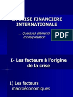 La Crise Financiere Inter Nation Ale
