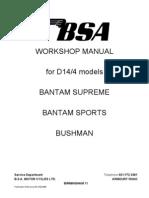 BSA Bantam D14-4 Workshop Manual