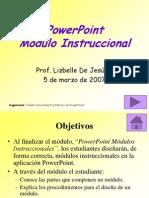 Mdulo Instruccional en Power Point